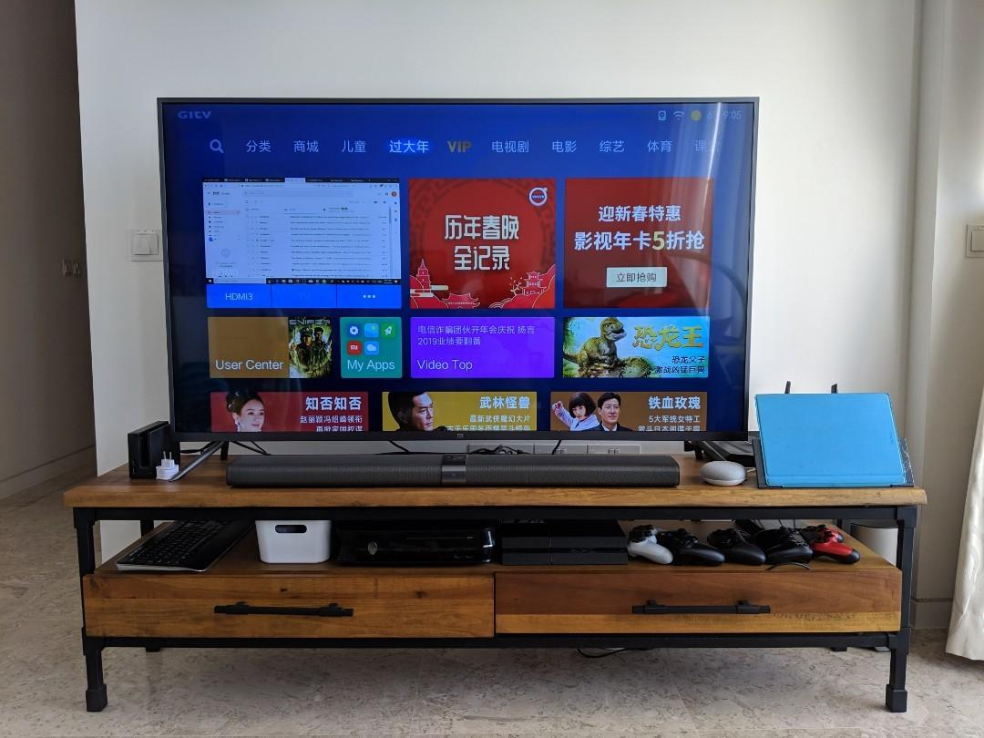 Tv Board Industrial Industrial Tv Side Board Castlery, Furniture, Shelves & Drawers On Carousell