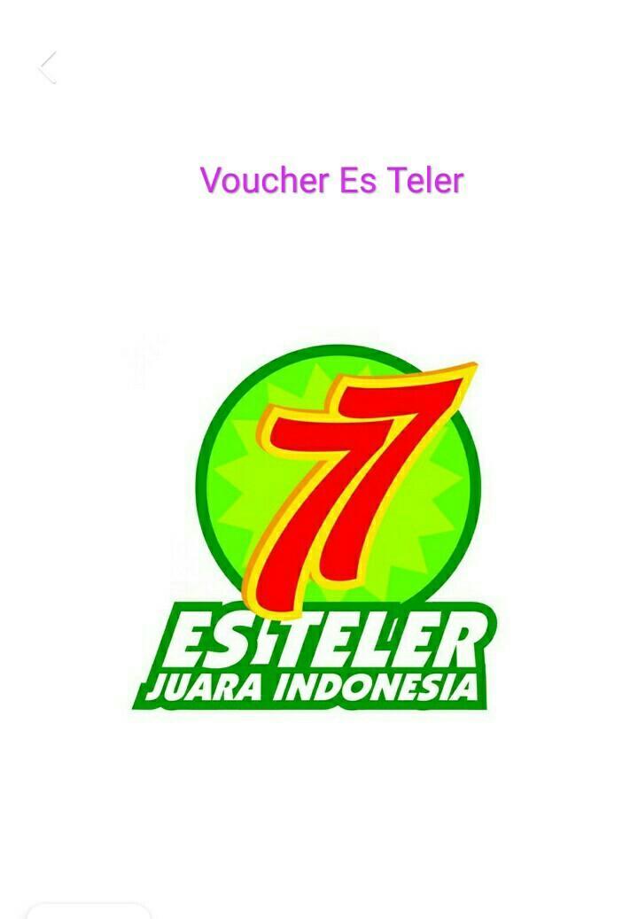 Es Teler 77 Logo : teler, Voucher, Teler, (250.000),, Tiket, Voucher,, Kartu, Hadiah, Carousell