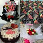 Chocolate Bouquet Surprise Wth Cake Or Brownies Food Drinks Baked Goods On Carousell