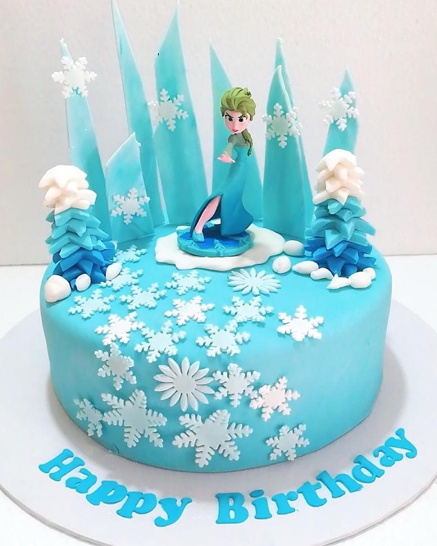 Frozen Elsa Theme Birthday Cake Food Drinks Baked Goods On Carousell