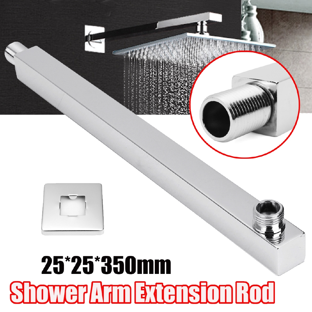 35cm Square Chrome Wall Mounted Shower Extension Angled Arm For Rain Shower Head