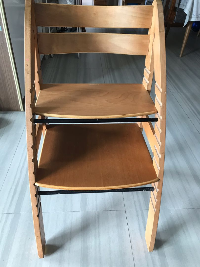 Wooden High Chairs For Babies Price Reduced Wooden Baby Adjustable High Chair