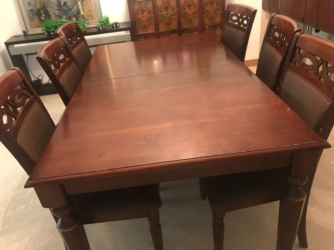 Used Dining Room Table And Chairs Dining Table 6 Chairs