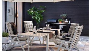 Ikea Applaro Outdoor Table And 6 Chairs, Furniture, Tables