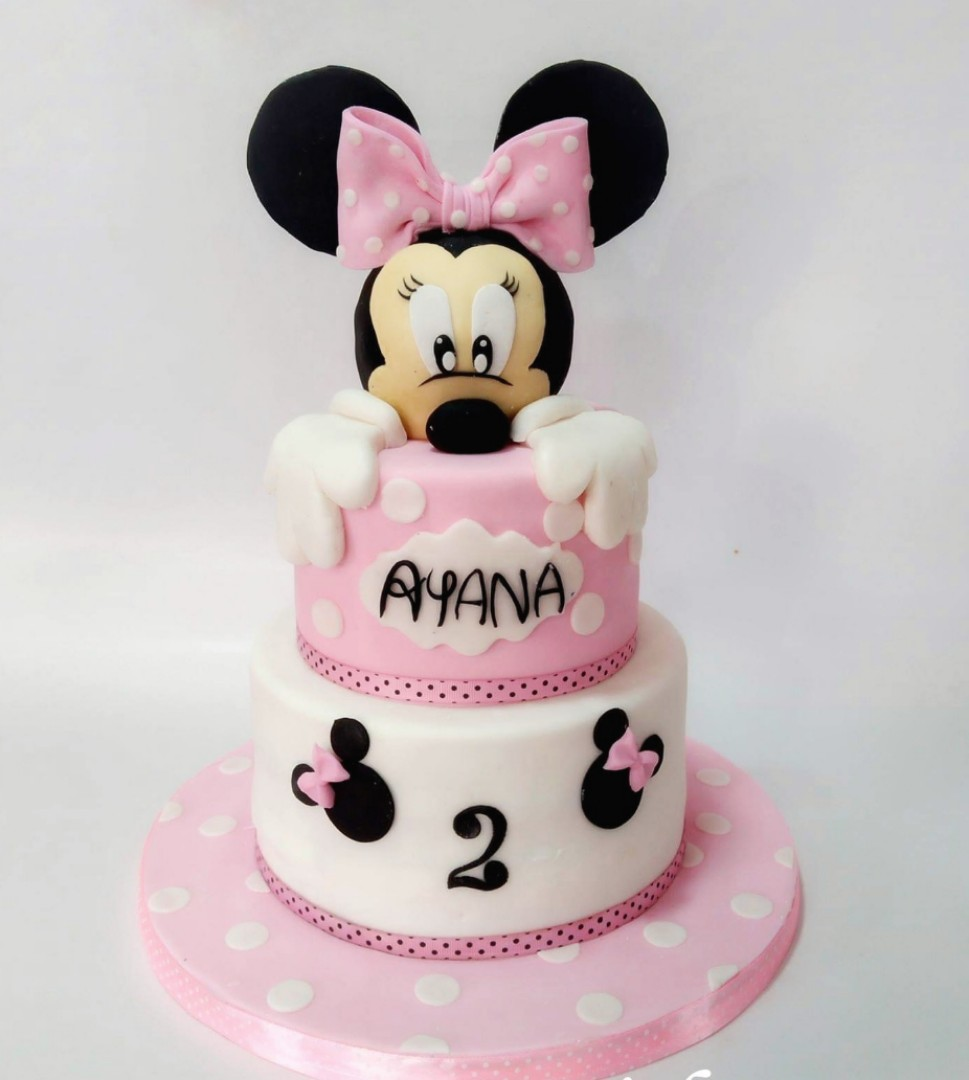 Minnie Mouse Birthday Cake 3tierss Food Drinks Baked Goods On
