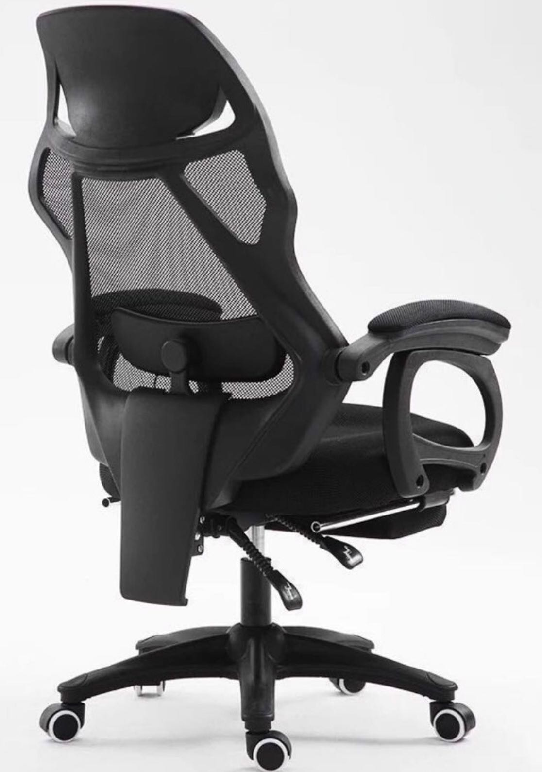 Massage Office Chair Black Ergonomic Office Chair With Usb Massage