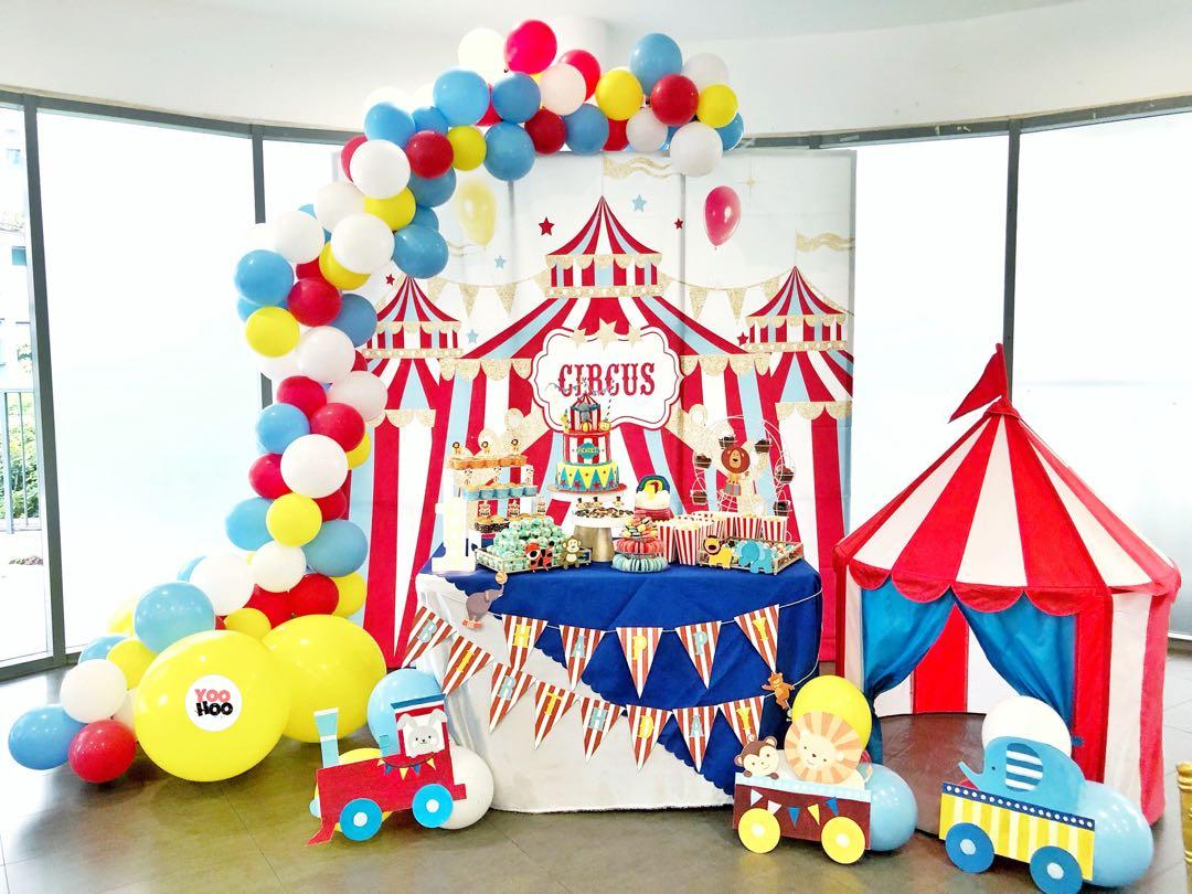 circus carnival baby shower