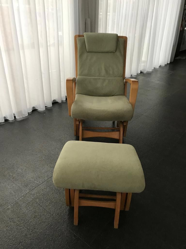 Gliding Chair Dutailier Nursing Chair Gliding With Matching Footstool
