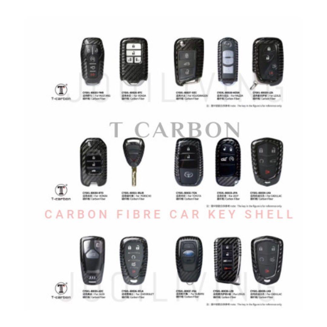 T Carbon Genuine Japan Toray Carbon Fibre Key Shell for