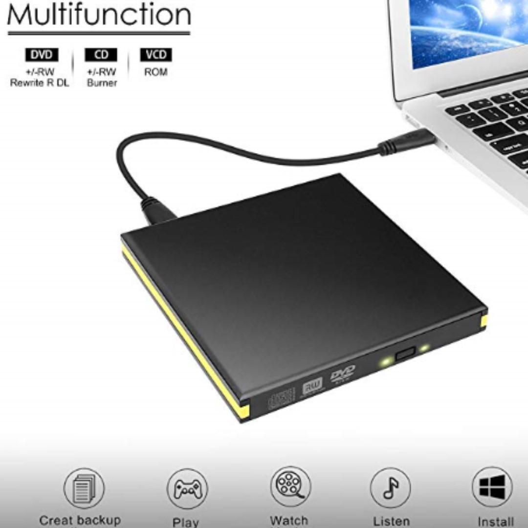 P15 External DVD Drive. USB 3.0 Cd Burner Drive Writer Reader Cd-Rw. DVD-Rw Player. Portable Optical Drives for MacBook. Desktop. Laptop. Windows ...