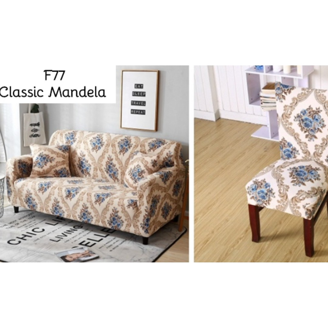 Chair Cover Patterns Classic Mandela Sofa And Chair Cover