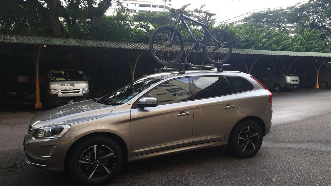 volvo xc60 roof bike rack