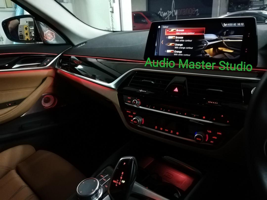 bmw g30 520 2018 bowers wilkins audio system with ambient light