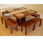 Scanteak Solid Square Dining Table And Chairs 8 Seater Furniture Tables Chairs On Carousell