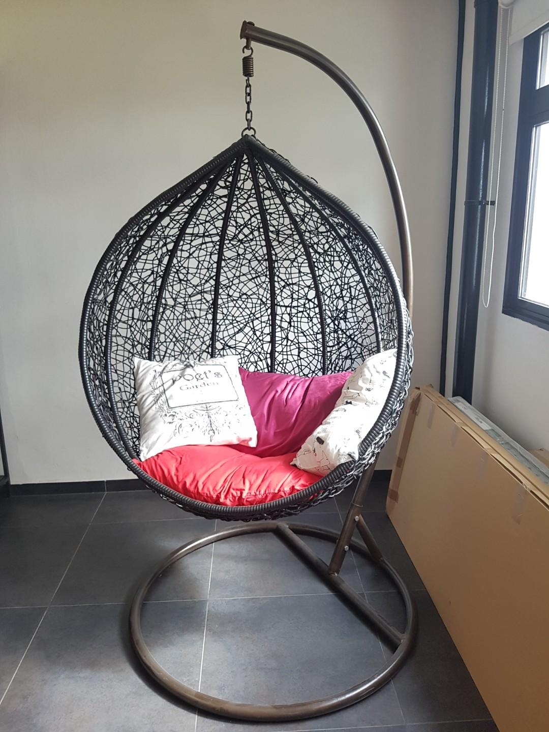 Bird Nest Chair Swing Lounge Bird S Nest Hanging Basket Cradle Chair On Carousell