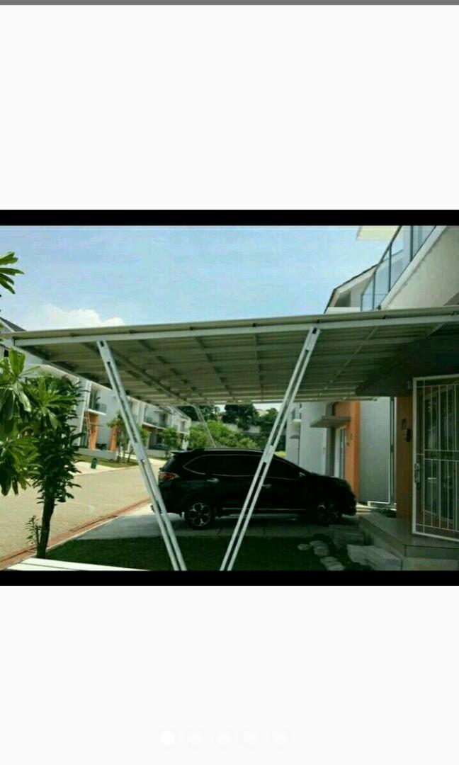 kanopi baja ringan tiang double atap spandek services others on