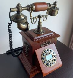 vintage rotary phone retro telephone with wood and metal body vintage collectibles vintage collectibles on carousell [ 810 x 1080 Pixel ]