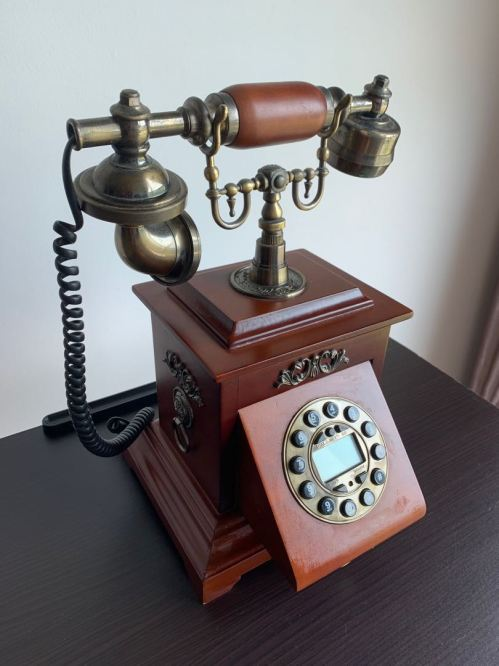 small resolution of vintage rotary phone retro telephone with wood and metal body vintage collectibles vintage collectibles on carousell