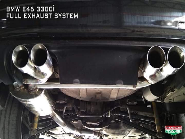 bmw e46 330ci custom made full exhaust system