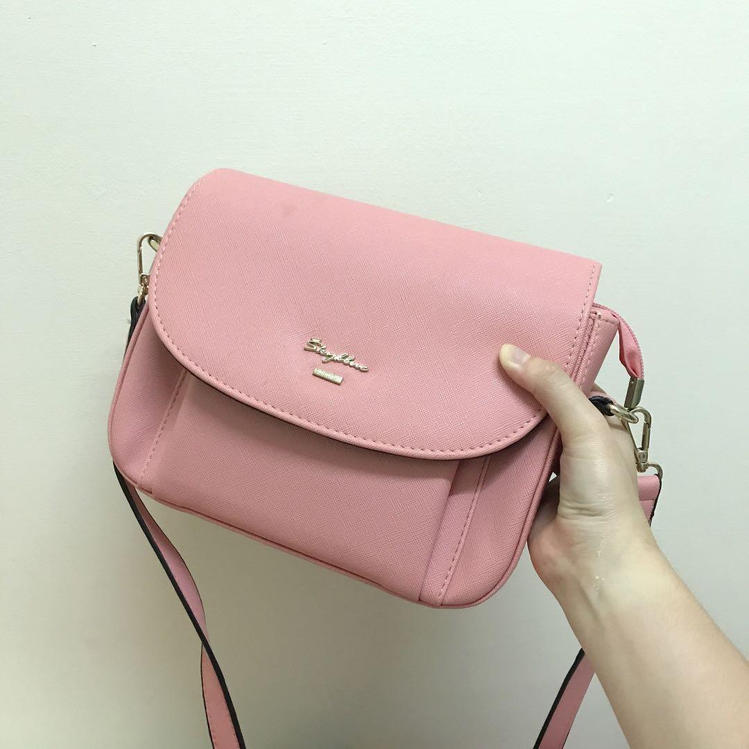 天藍小鋪粉色斜肩/側背包, 她的時尚, 包包在旋轉拍賣