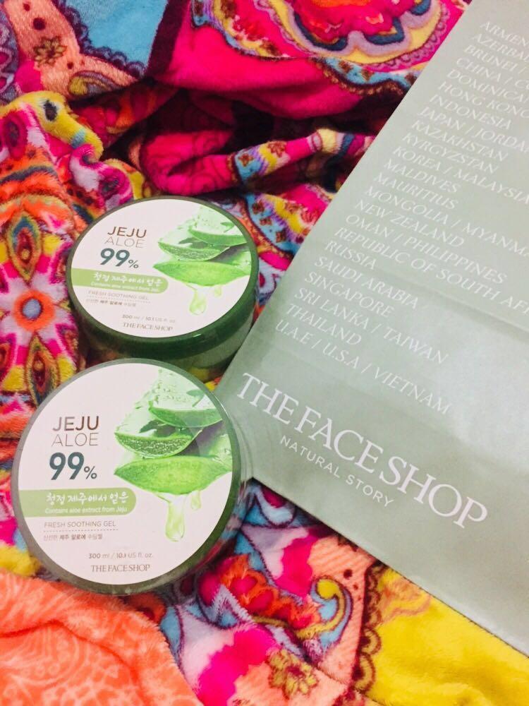 The Face Shop Jeju Aloe Health Beauty Skin Bath Body