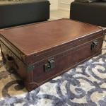 Vintage Leather Trunk Coffee Table Furniture Tables Chairs On Carousell