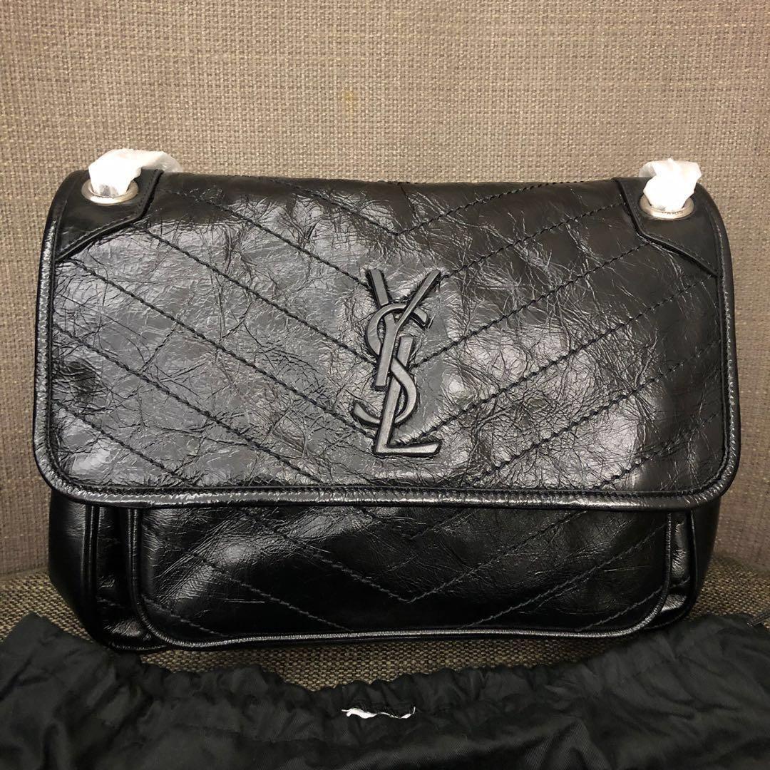 YSL niki 中號 28cm. 名牌精品. 精品包包在旋轉拍賣