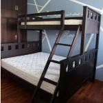 Picket Rail Solid Wood Bunk Bed Queen Single Bed Frame Furniture Beds Mattresses On Carousell