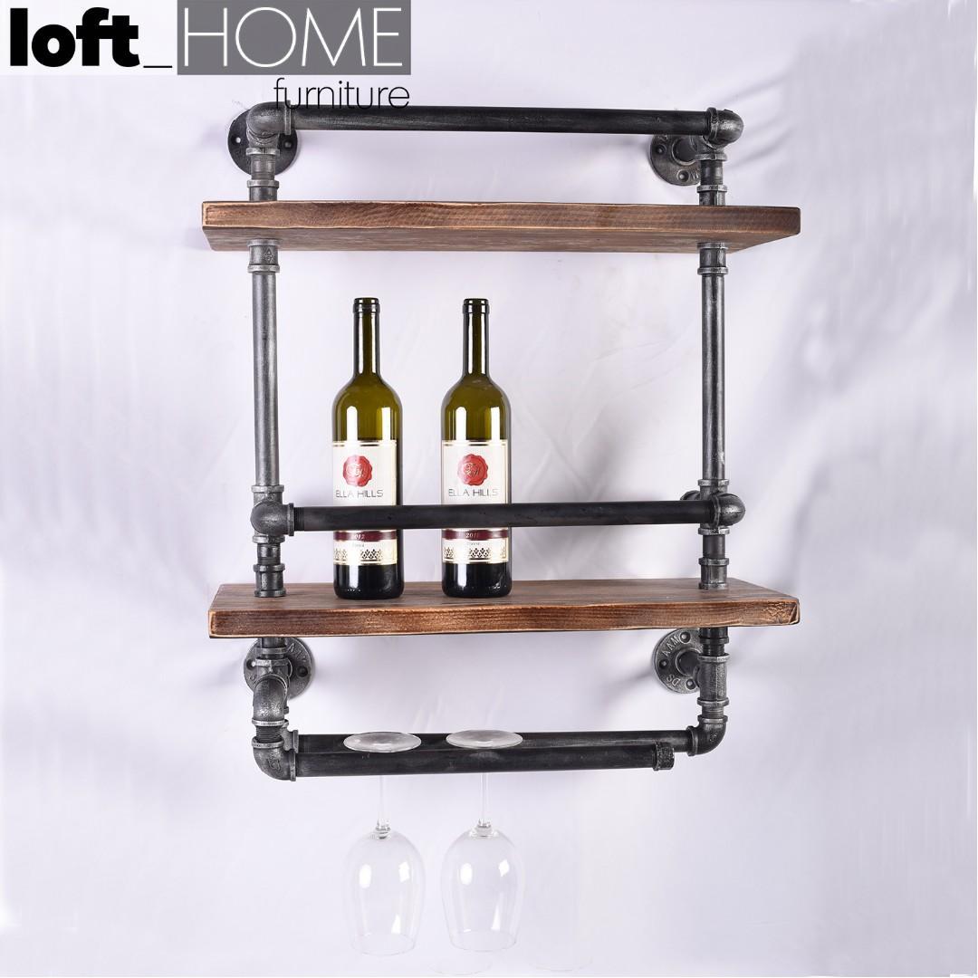 Wall Wine Shelf Pipe Furniture Shelves Drawers On