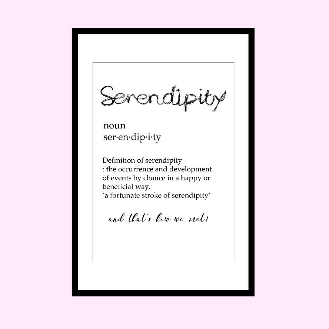 Wall Art Print Serendipity Design Craft Art Prints On Carousell