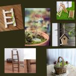 Fairy Garden Accessories Bird Feeder House Mini Basket Wooden Ladder Gardening On Carousell