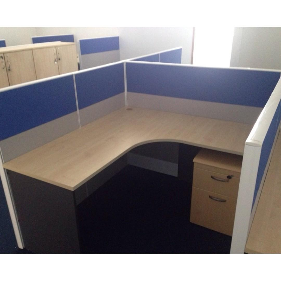 L Shape Office Partition Cubicle Workstation Home Furniture Furniture Fixtures Office Furniture On Carousell