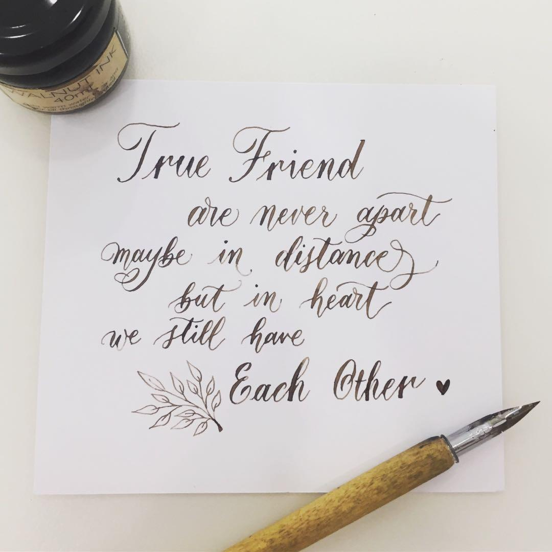 Calligraphy Written Notes Quotes For Family Friends Design Craft Others On Carousell
