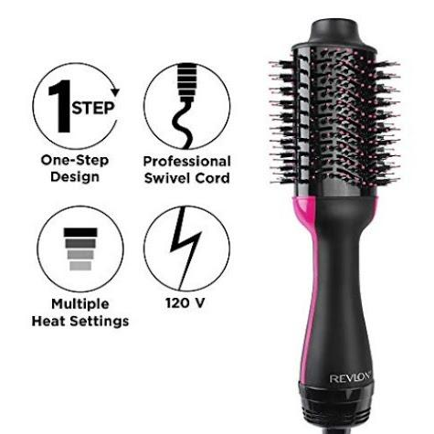 Revlon露華濃One-Step Hair Dryer & Volumizer 吹風機+捲髮(豐髮)器,臺灣可以直接使用 下單請先讀過我們的賣場簡介 本商品是直接從國外訂購,價格等資訊, 美髮在旋轉拍賣