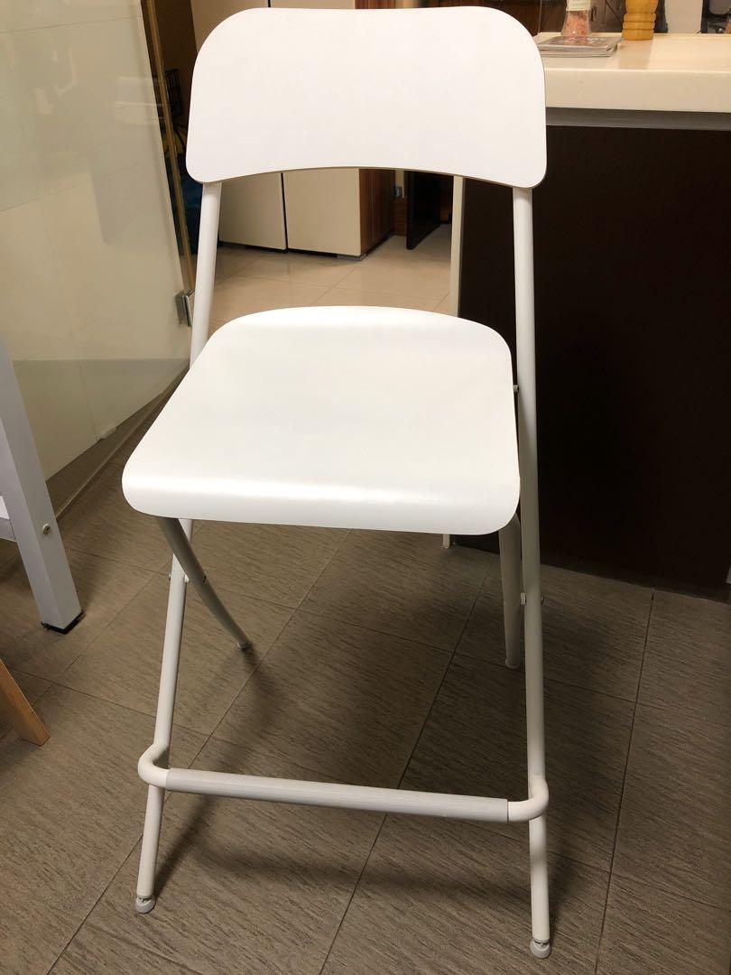 Ikea Franklin Bar Stool Kitchen Chair With Backrest Furniture Tables Chairs On Carousell