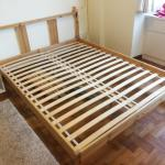 Queen Ikea Fjellse Wood Bed Frame Furniture Beds Mattresses On Carousell