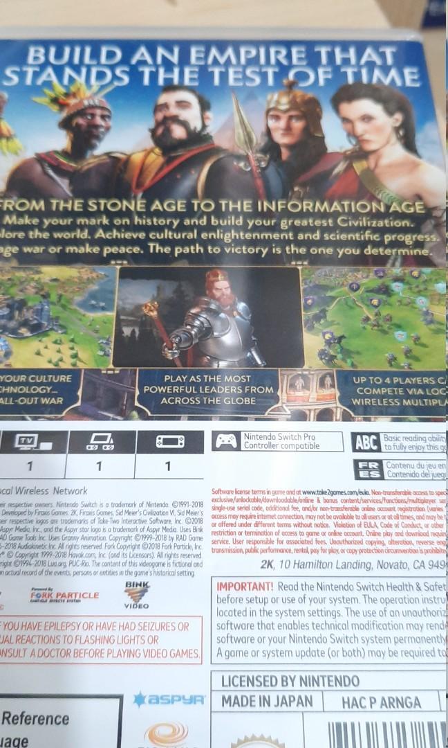 文明帝國6, 遊戲機, 遊戲機遊戲 - Carousell