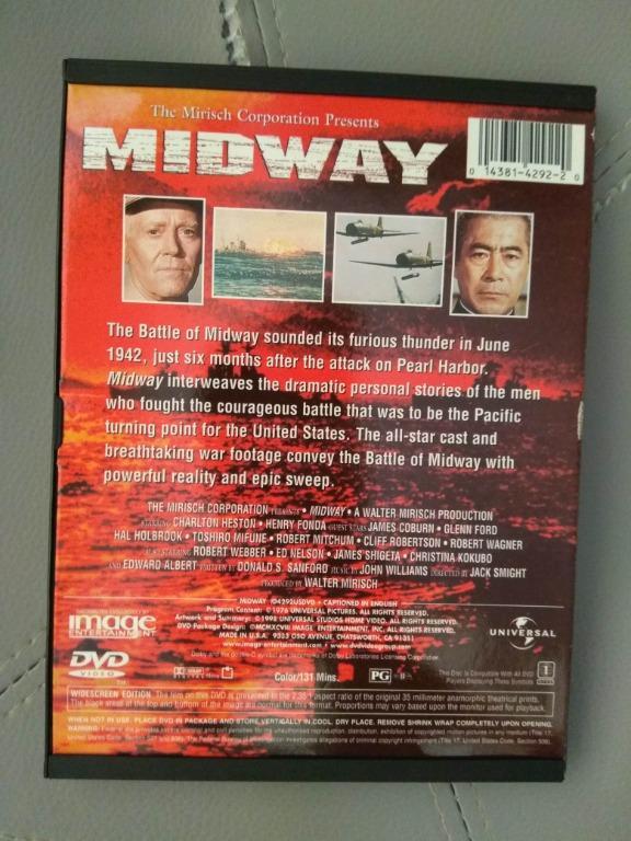 Midway Region 1 DVD Used /1976 /WW2 /Military War Movies /中途島戰役 1976年版本 二手 美版1區 英語沒有中文字幕 實物拍攝 ...