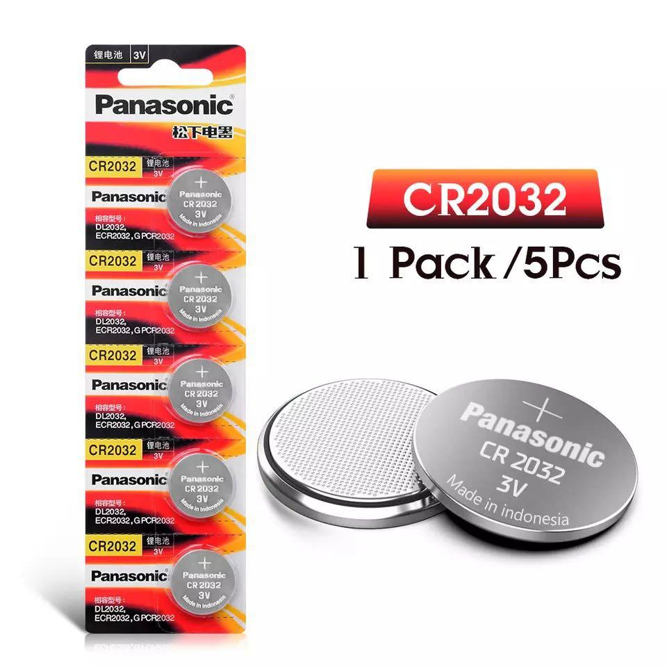 CR2032 Panasonic 3V button cell lithium battery 5 pcs . Electronics. Others on Carousell