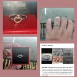 Gold And Silver Knotted Promise Ring Women S Fashion Jewelry Rings On Carousell