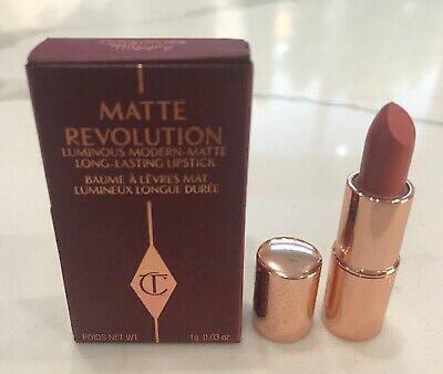 charlotte tilbury matte revolution lipstick pillow talk original deluxe sample 1g