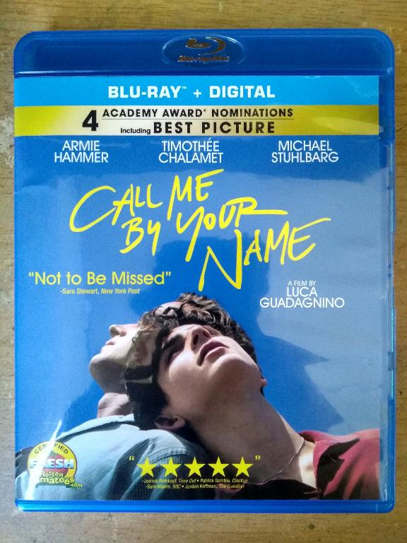 Call Me By Your Name Vo : Import, Original, Bluray, Blu-ray, Disc,, Hobbies, Toys,, Music, Media,, Accessories, Carousell