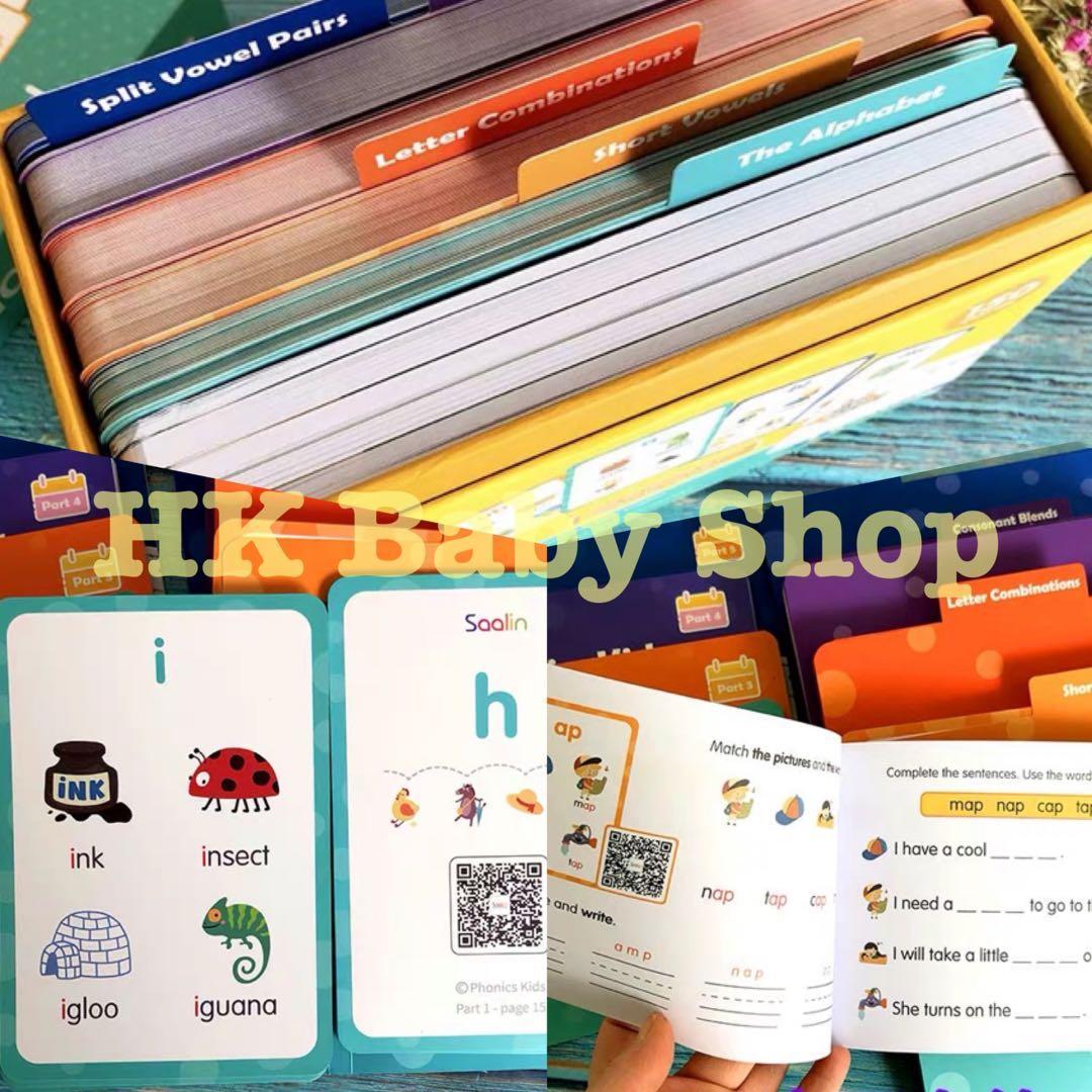 Phonics learning card -Saalin Phonics Kids . flash cards. 書本 & 文具. 小朋友書 - Carousell