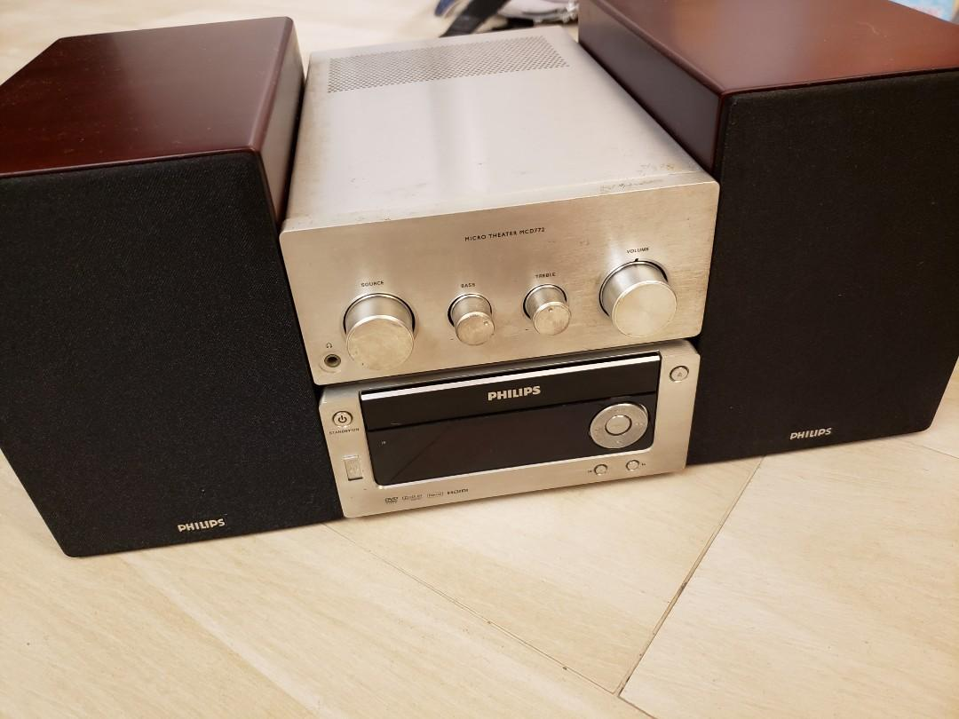 Philips Mini Hifi DVD CD player CD機. Music & Media. Music Accessories on Carousell
