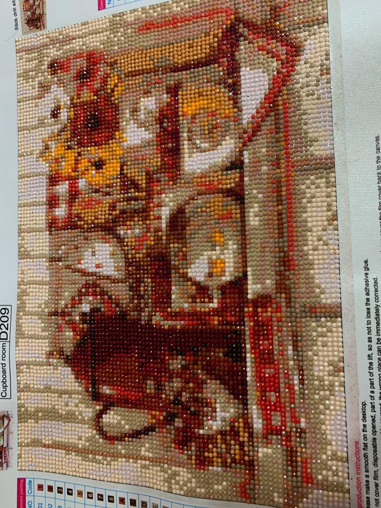 5d Completed Diamond Painting Kitchen Design Craft Handmade Craft On Carousell