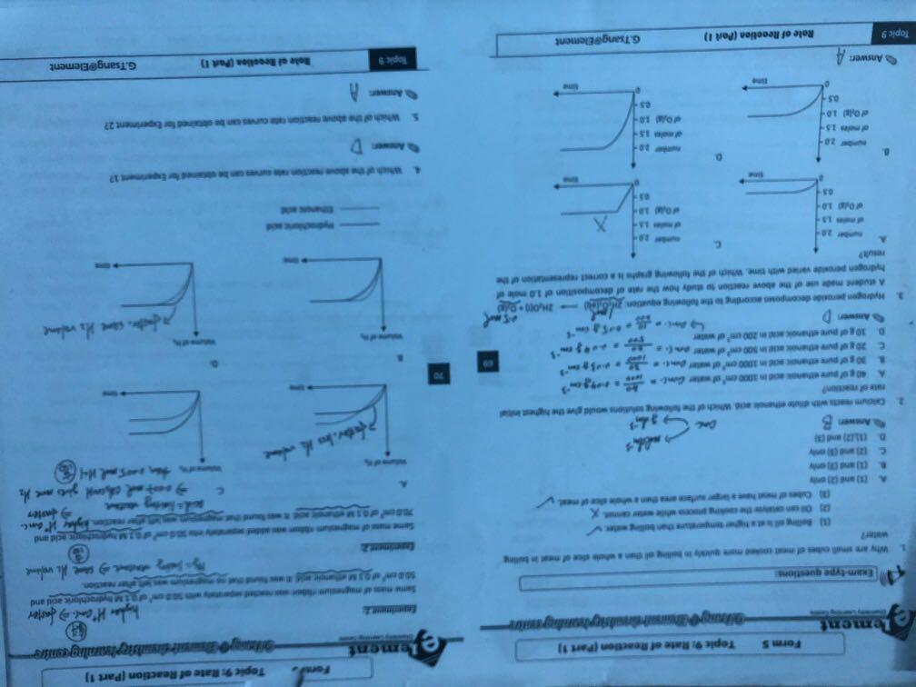 Element 化學補習名校notes筆記及補充練習exercise book,小班教學, 補習化學, 化學補習, 教科書 - Carousell