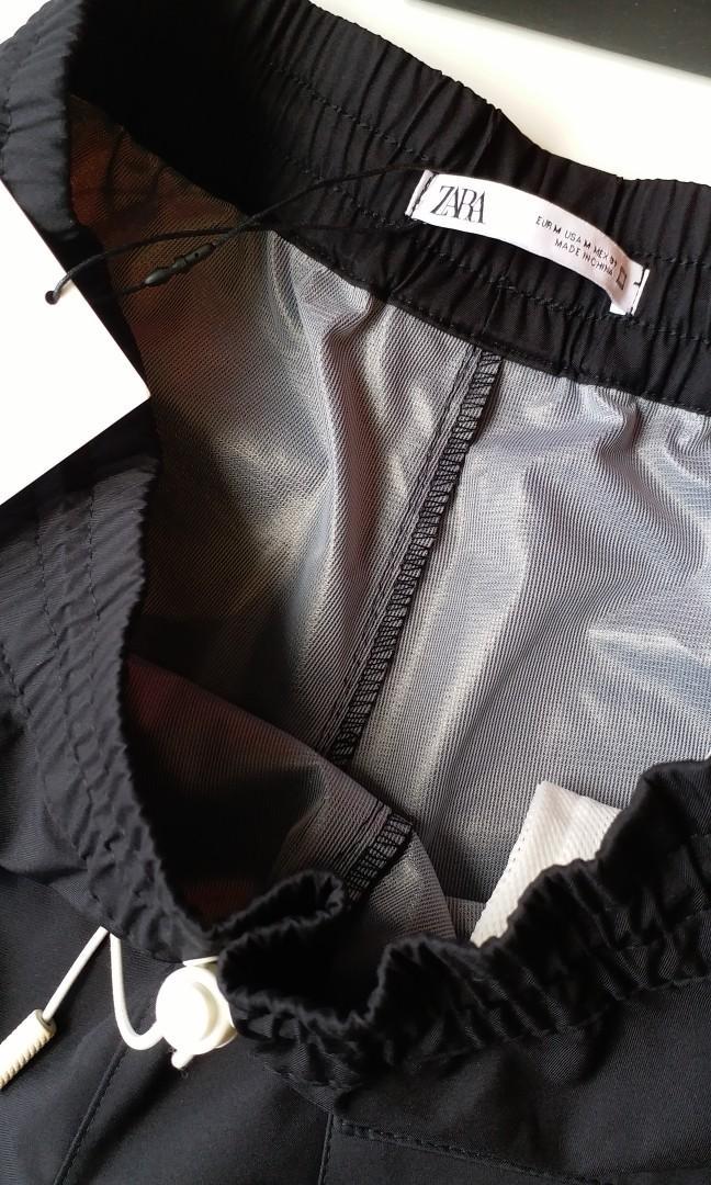 Zara men 6袋科技料短褲, 男裝, 男裝褲子 - Carousell