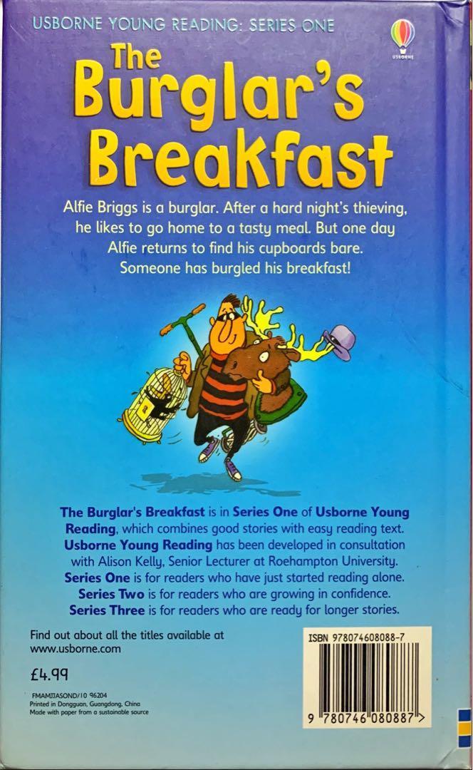 英文故事書。The burglar's breakfast. 書本 & 文具. 小朋友書 - Carousell