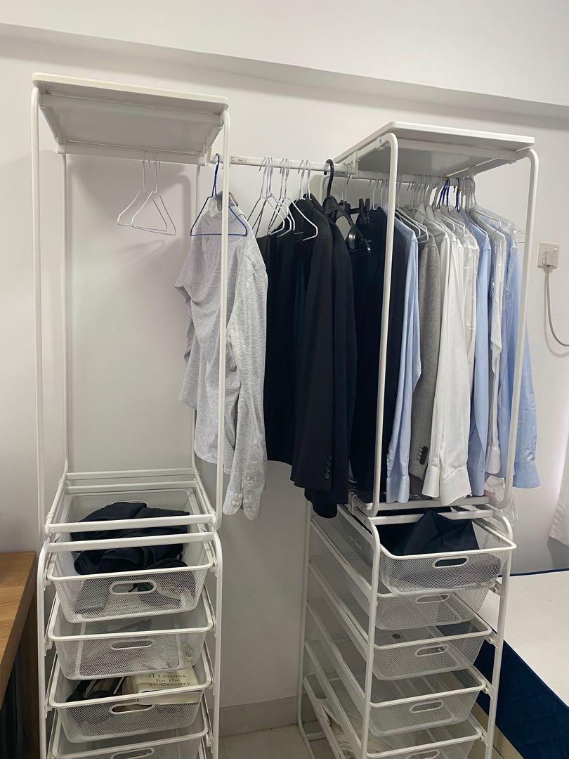 Ikea ALGOT Metal Wardrobe System. 傢俬&家居. 傢俬 - Carousell