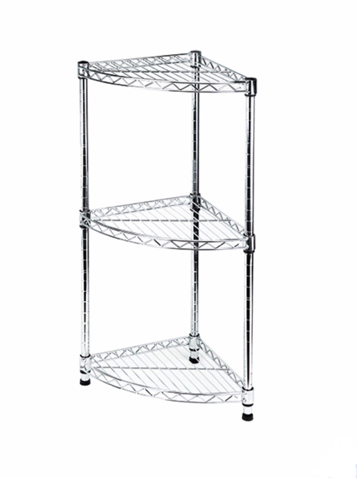 實惠 Pricerite MESH Corner Shelf 三角組合層架, 傢俬&家居, 傢俬 - Carousell